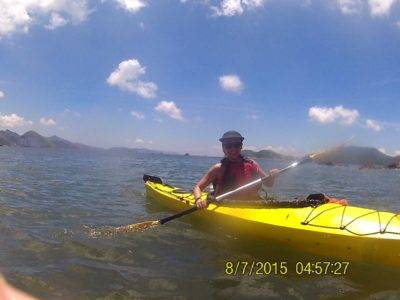 a glorious day sea kayaking in Hong Kong