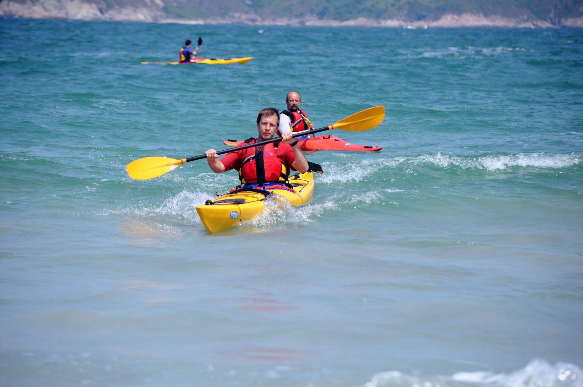 learning new kayak paddle skills