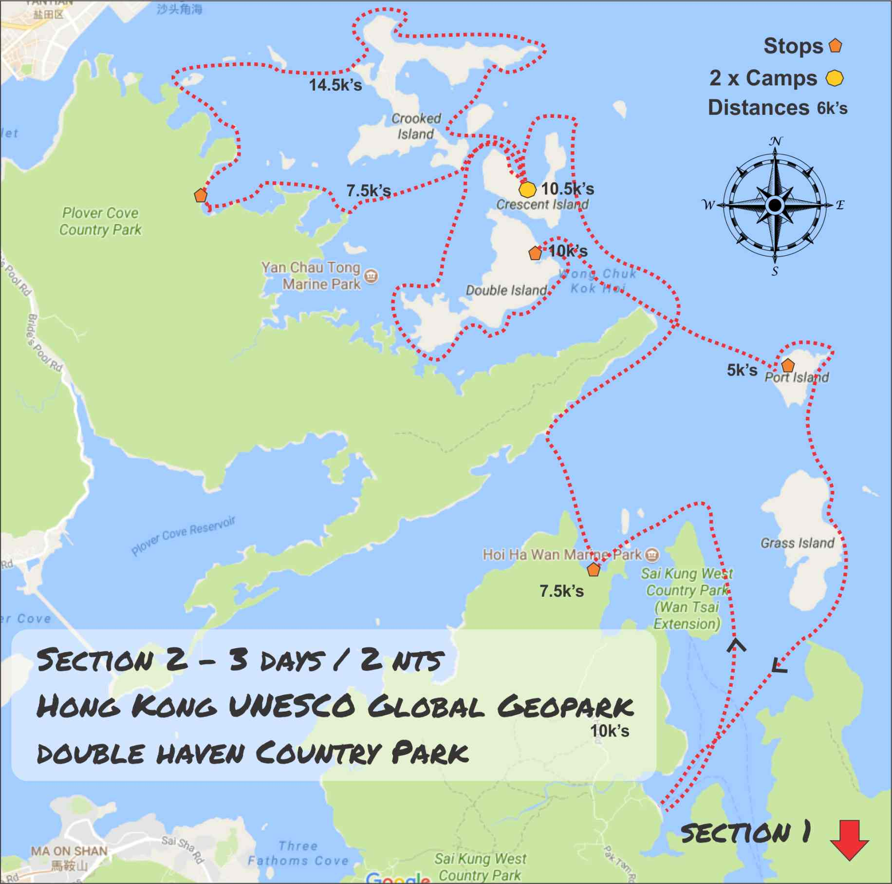 Geopark Sea Kayak Expedition Double Haven