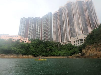 sea kayaking Tai Tam Bay, Hong Kong