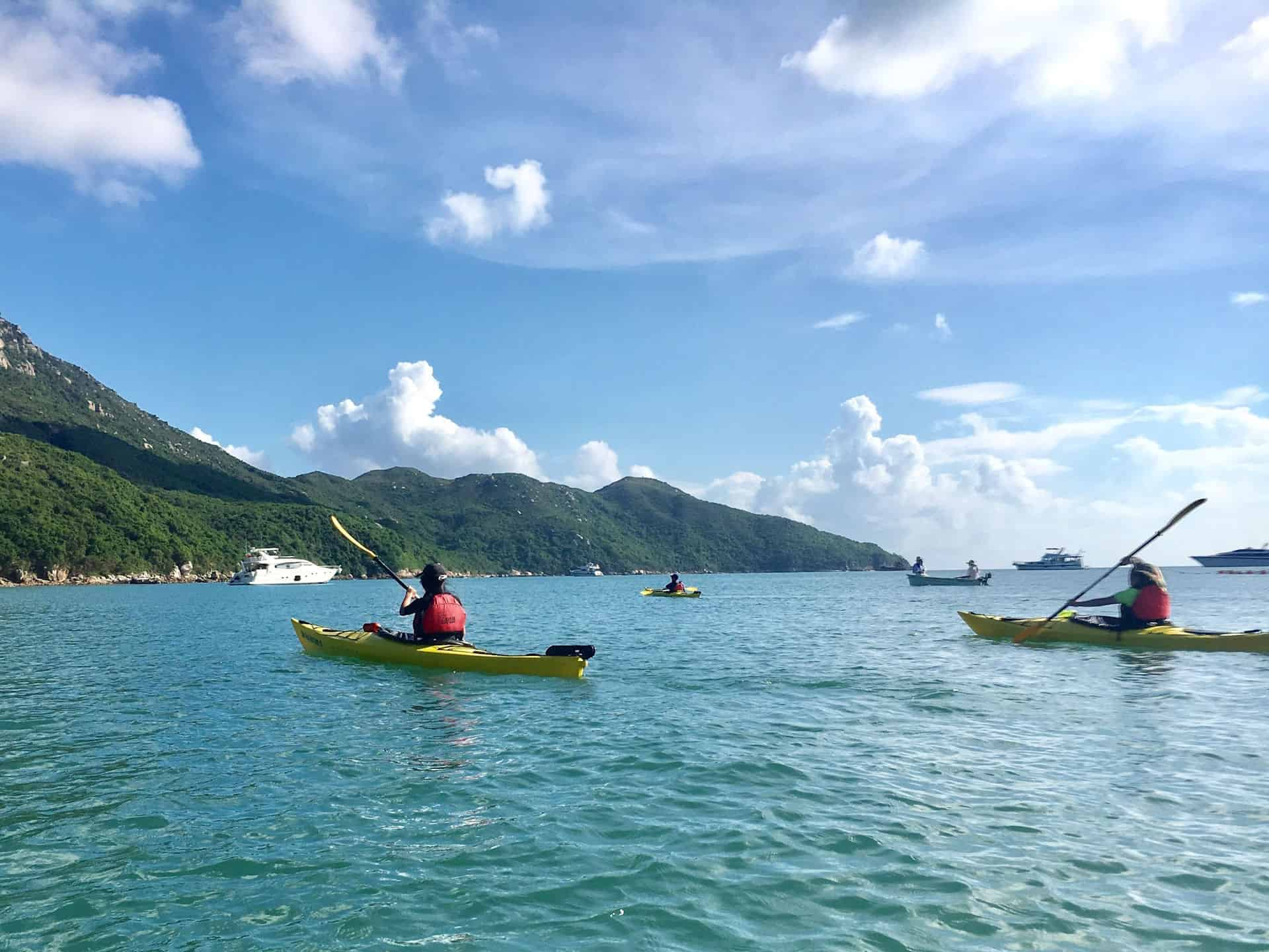 bbeautiful Tai Tam Bay sea kayak
