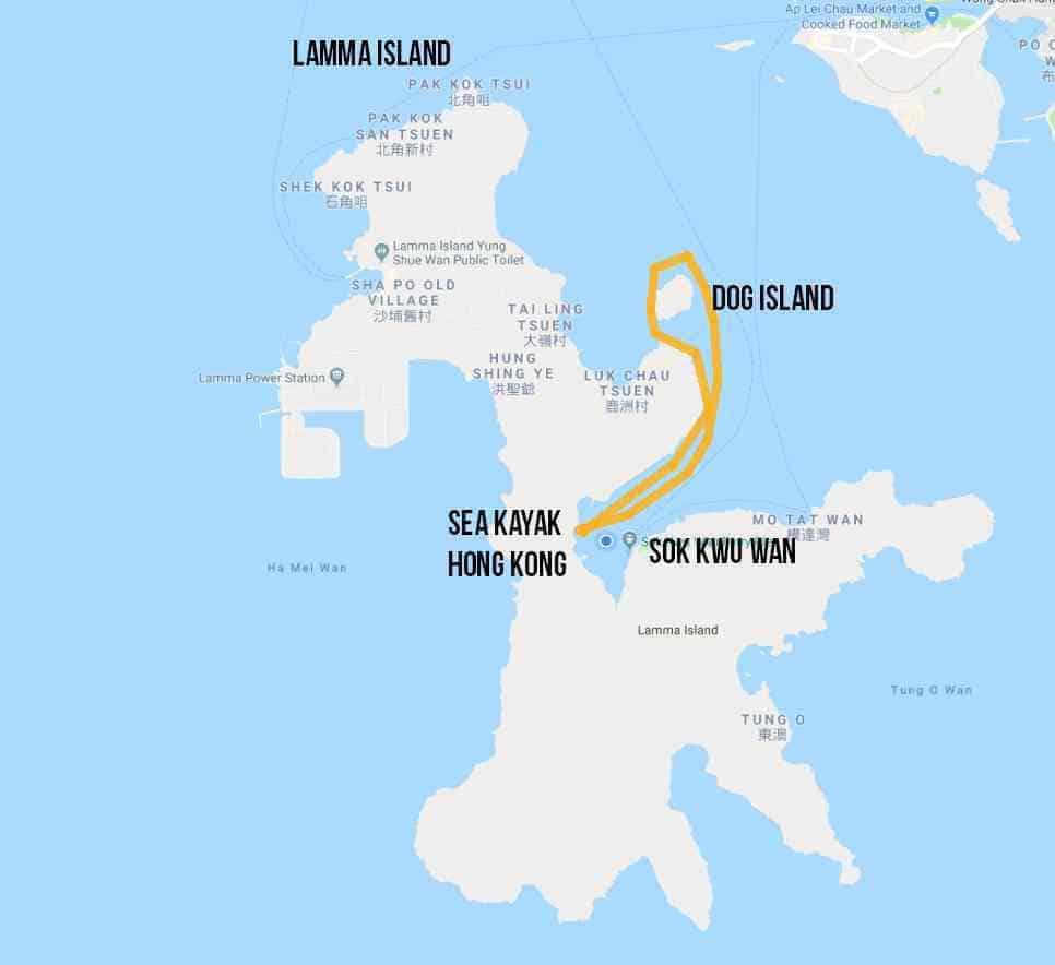 DOG ISLAND TRIP MAP