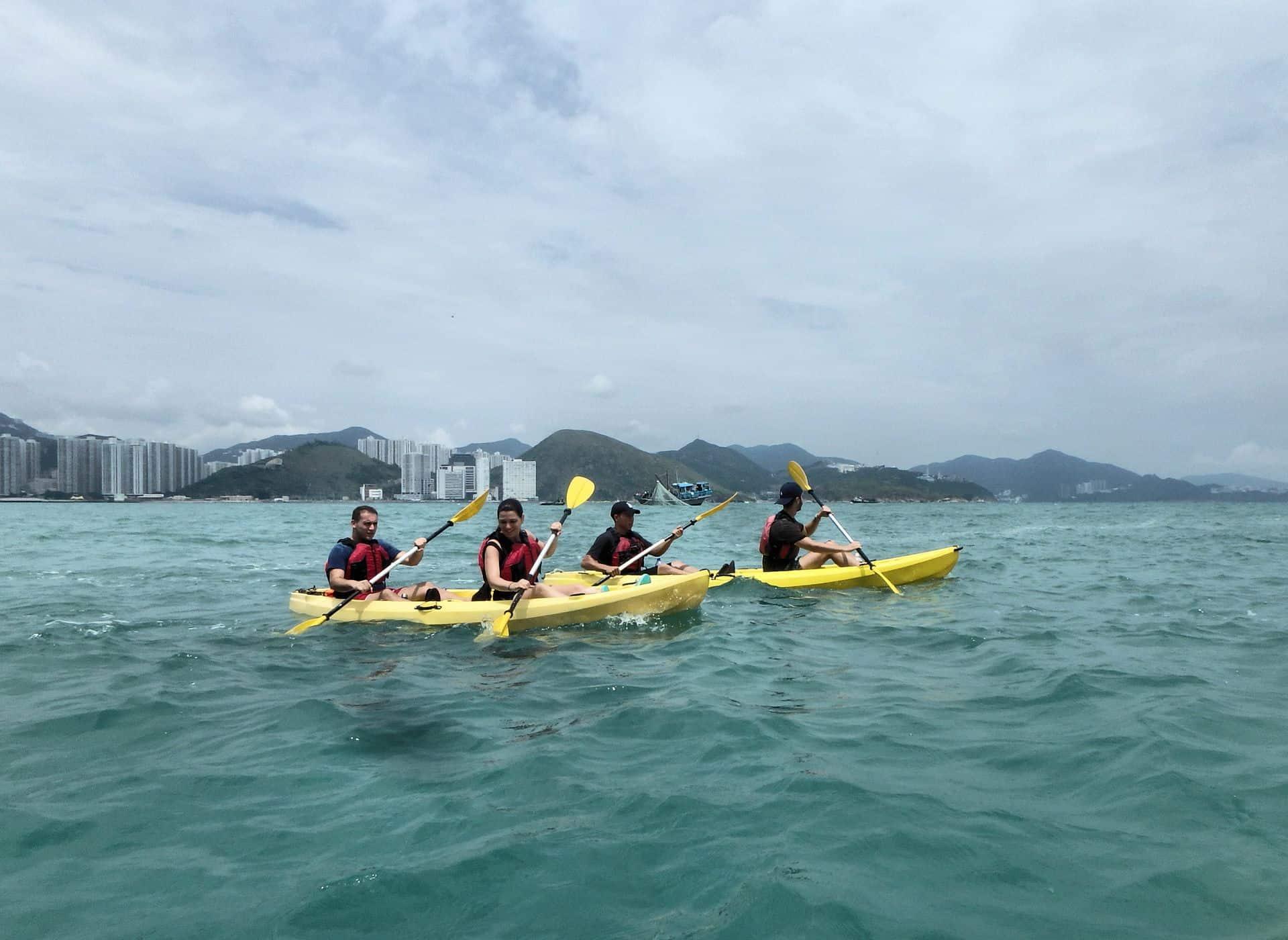 Kayak Dog Island, Hong Kong