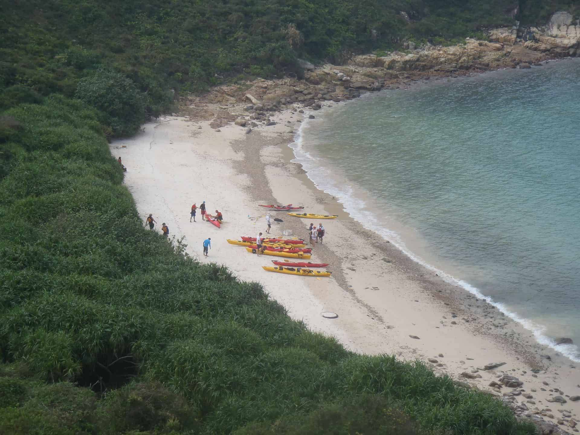 Remote sandy camping beaches