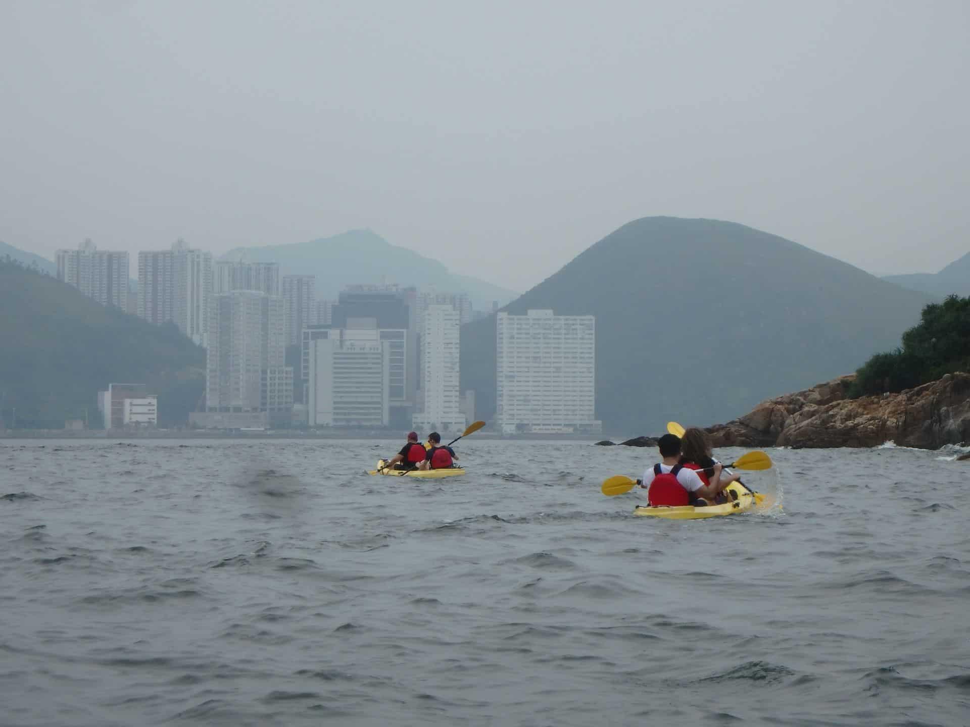 Dog island view of Hong Kong island