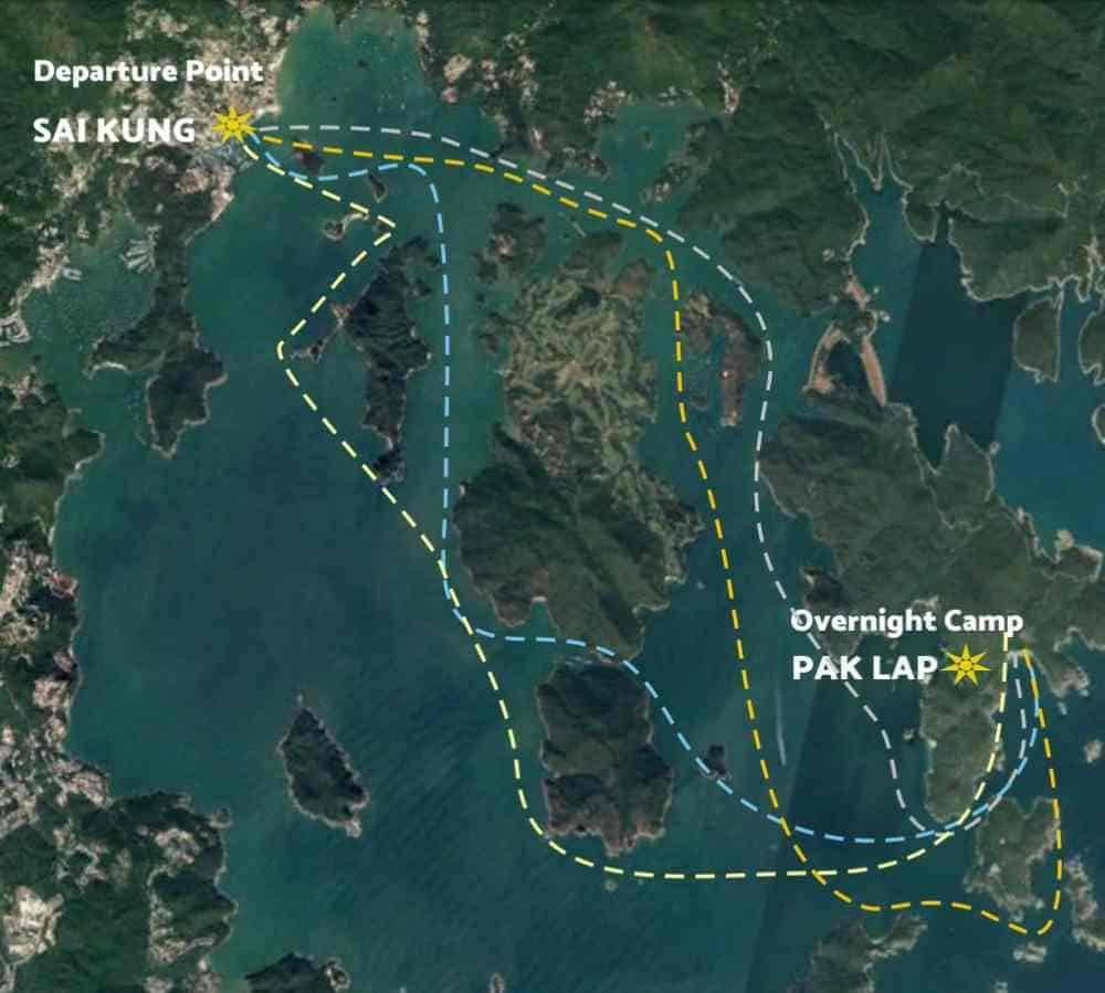 sai kung pak lap route map