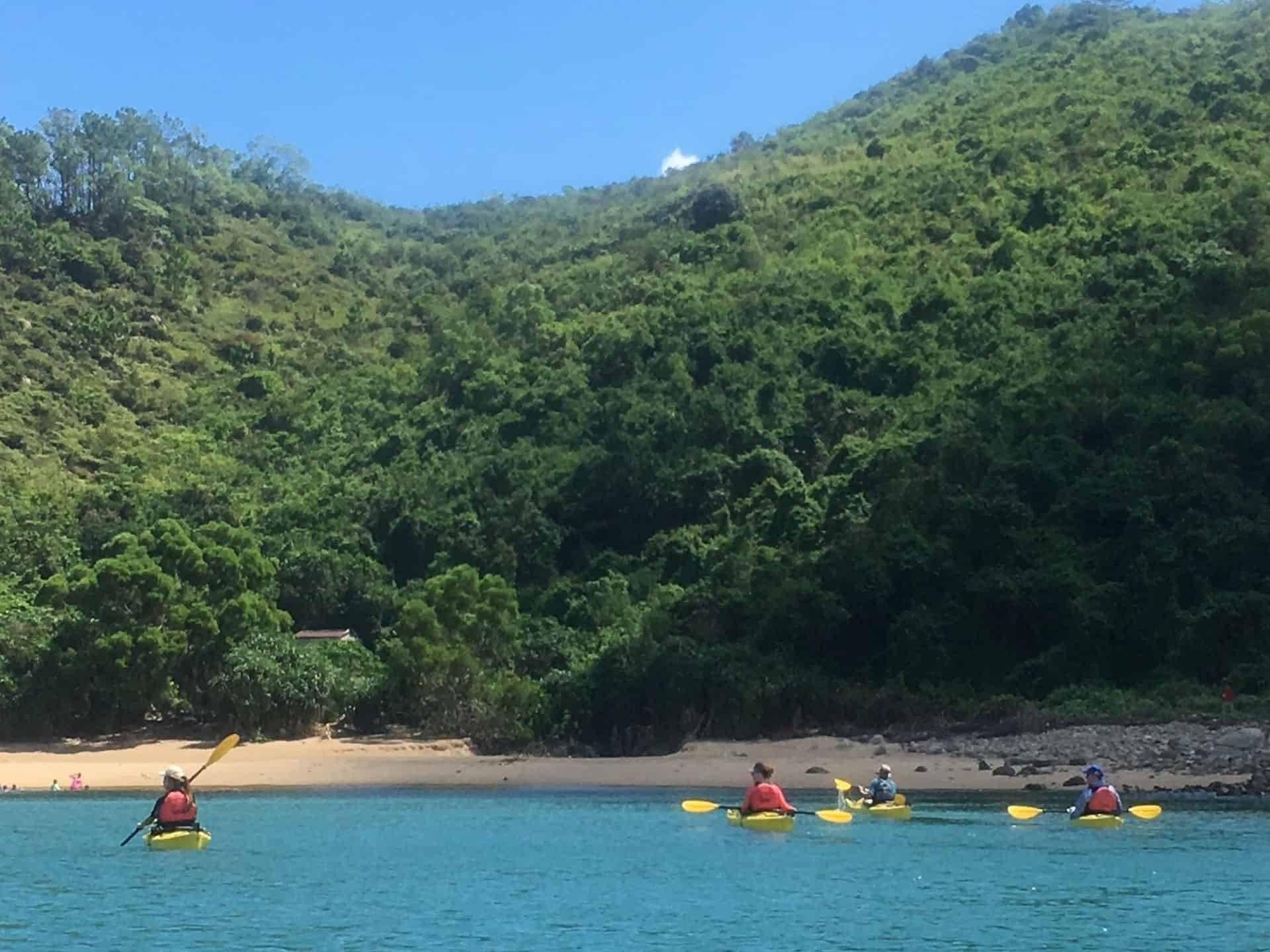 sea kayaking onHong Kong Island