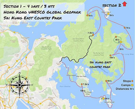 UNESCO geopark Hong Kong sea kayak route