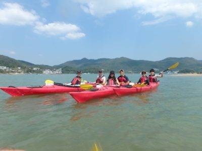 Sea kayaking in the Unesco Global geopark, Hong Kong
