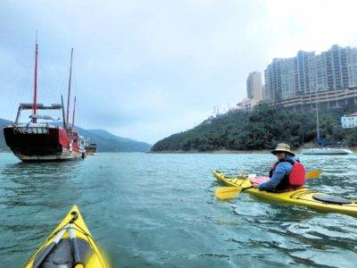Seakayaking in Tai Tam Bay Hong Kong