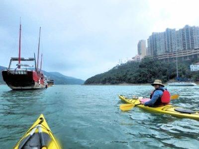 Seakayaking in Tai Tam Bay Hong Kong
