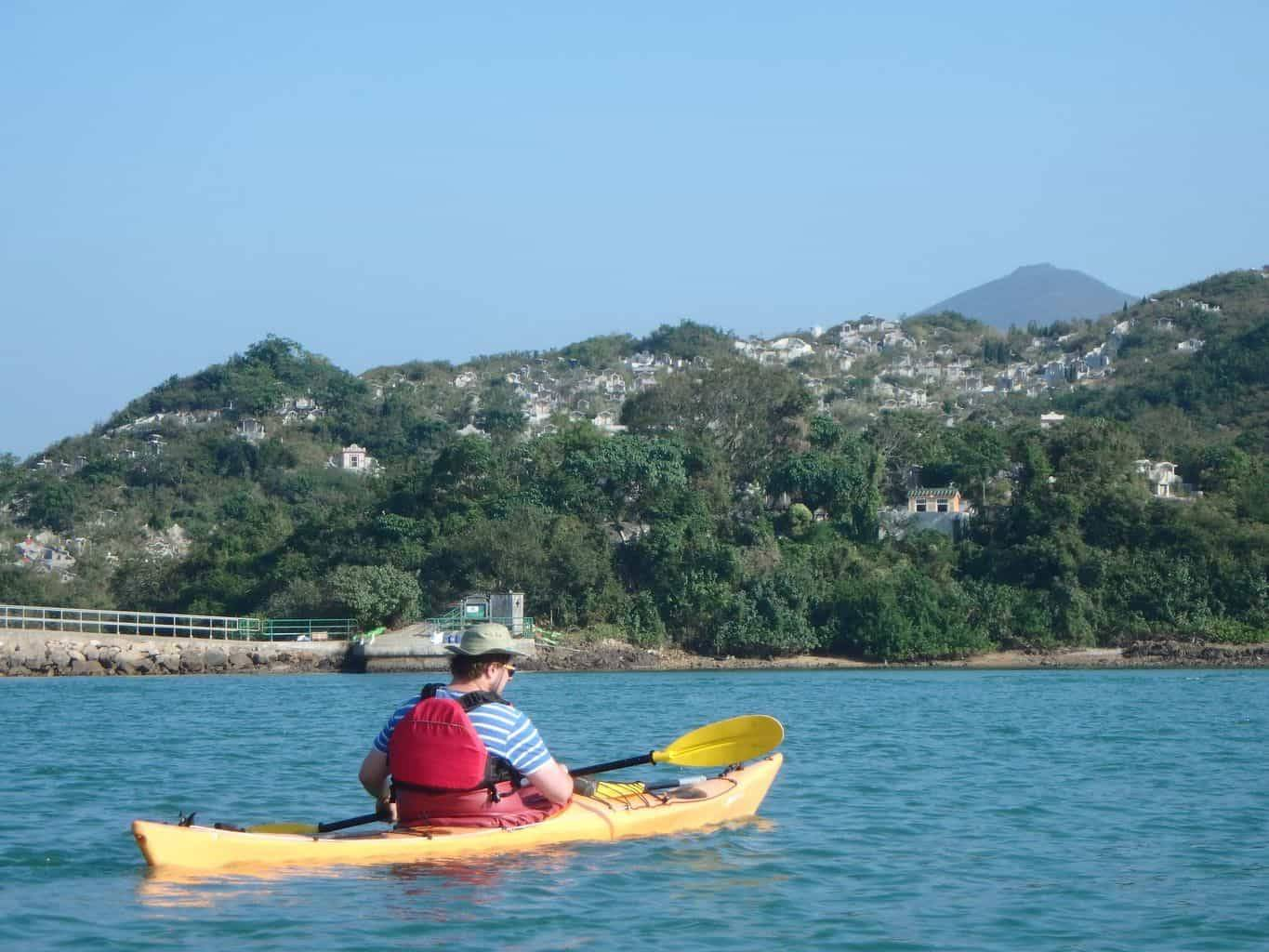 Chinese dulture when sea kayaking Hong Kong