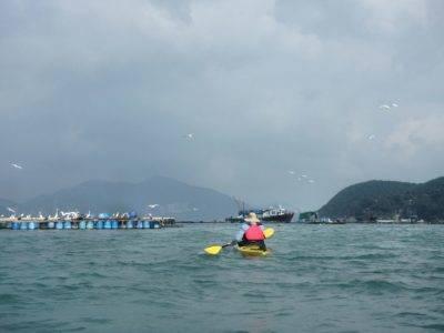 Windy day to Dog Island Hong Kong