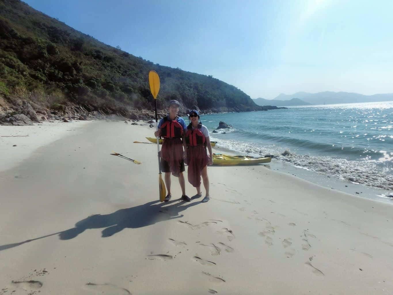 wiskey beach Hong Kong Sea Kayaking