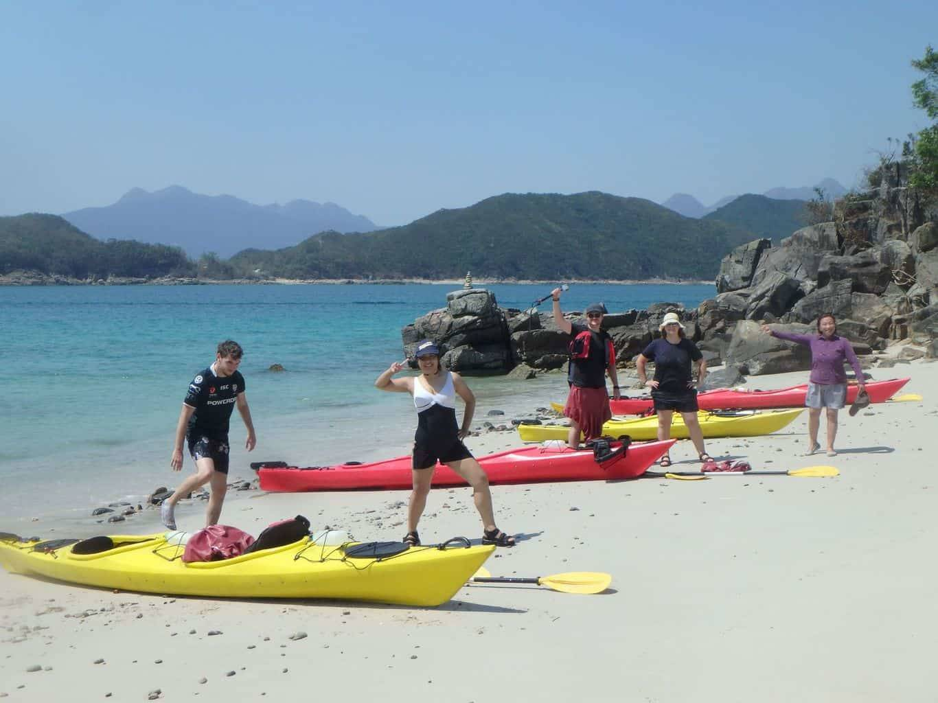 sea kayak to deserted beaches