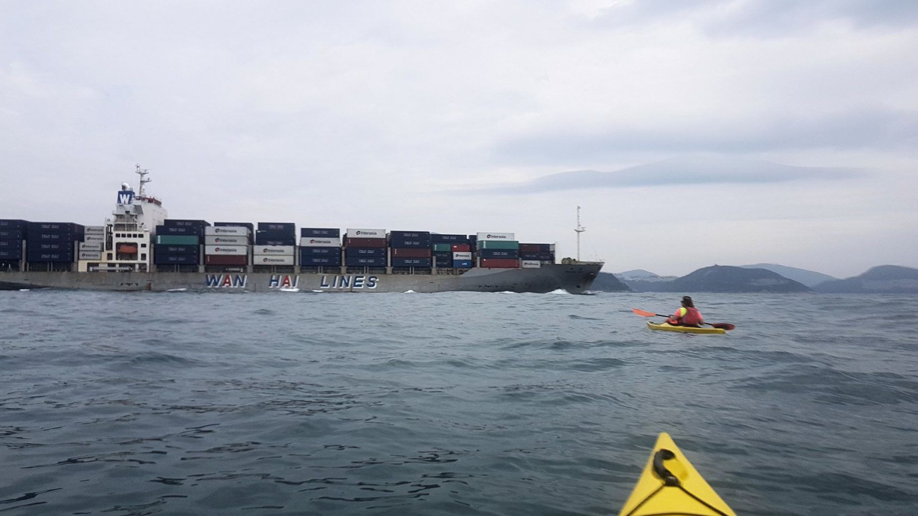 19 Jan 2019 sea kayak lamma to hong kong island