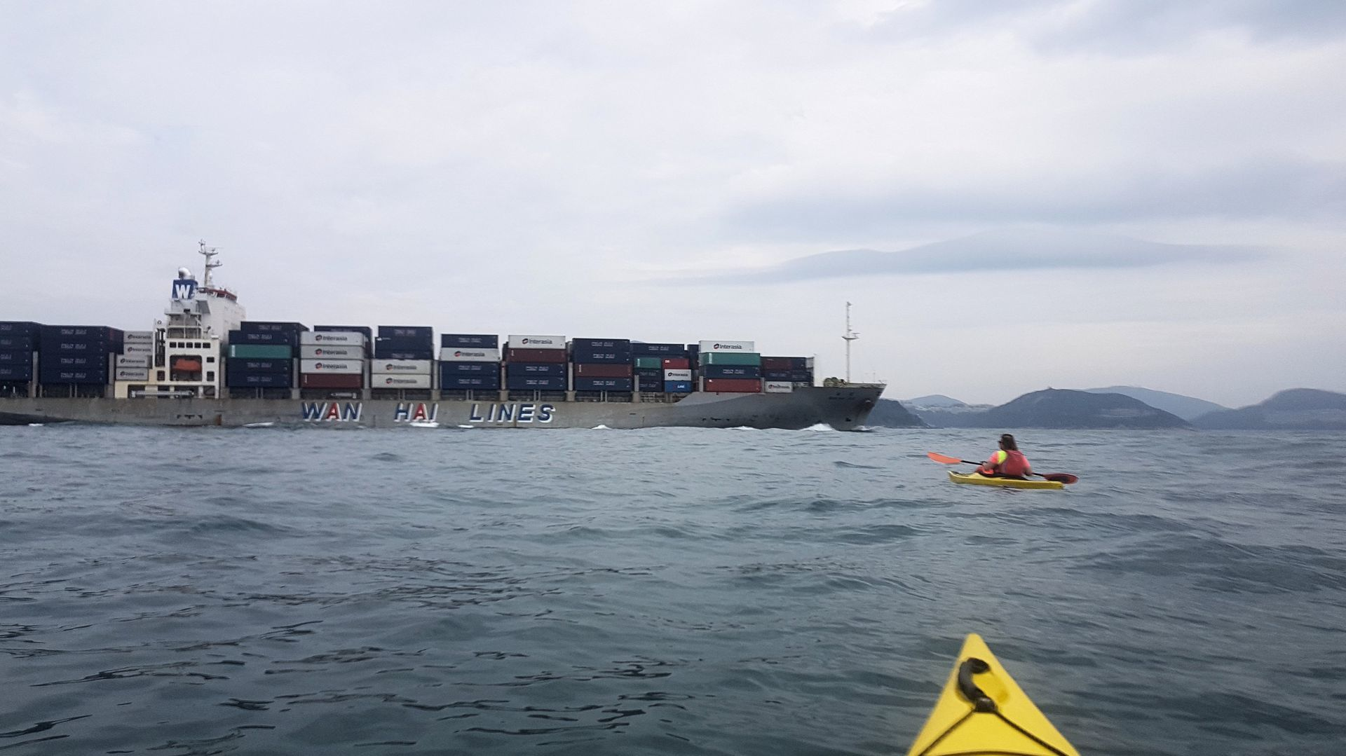 19 Jan 2019 sea kayak lamma to hong kong island