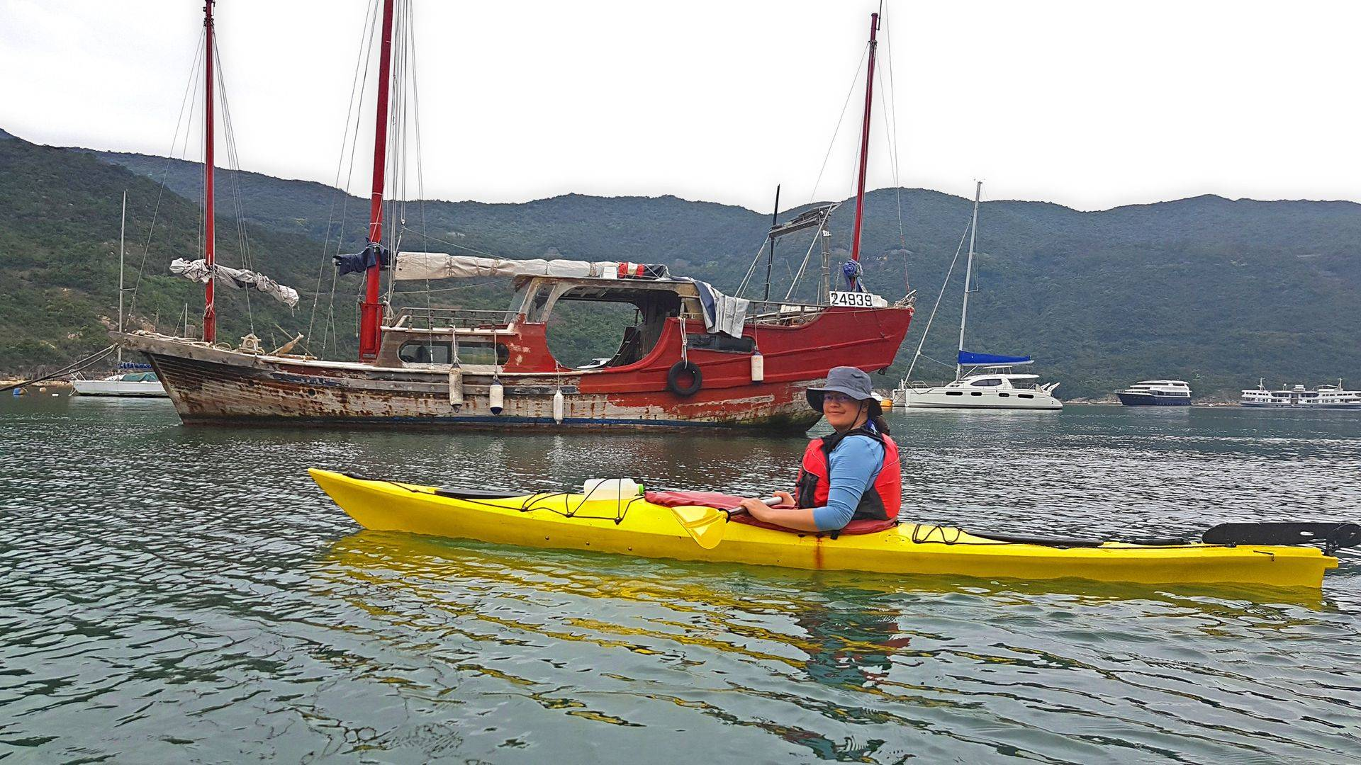 Tai tam sea kayak trip Hong Kong