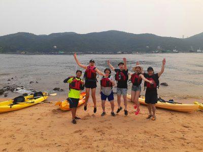 Dog Islandsea kayak group Hong Kong