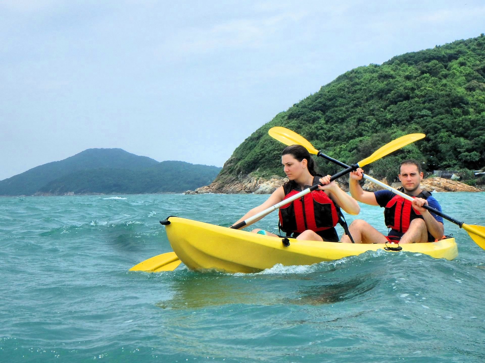 kayaking in Hong Kong