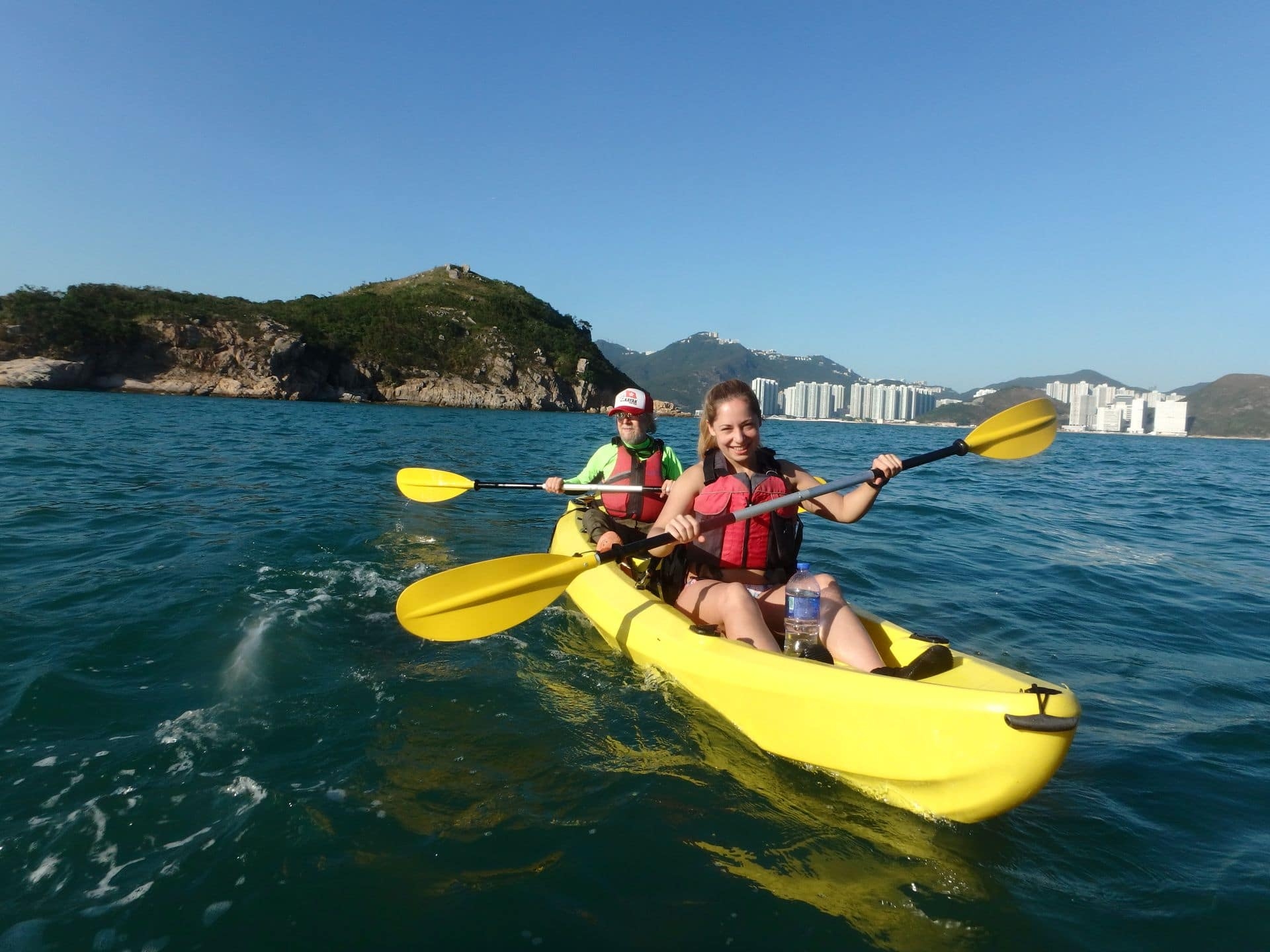 sea kayak to Dog island Hong Kong