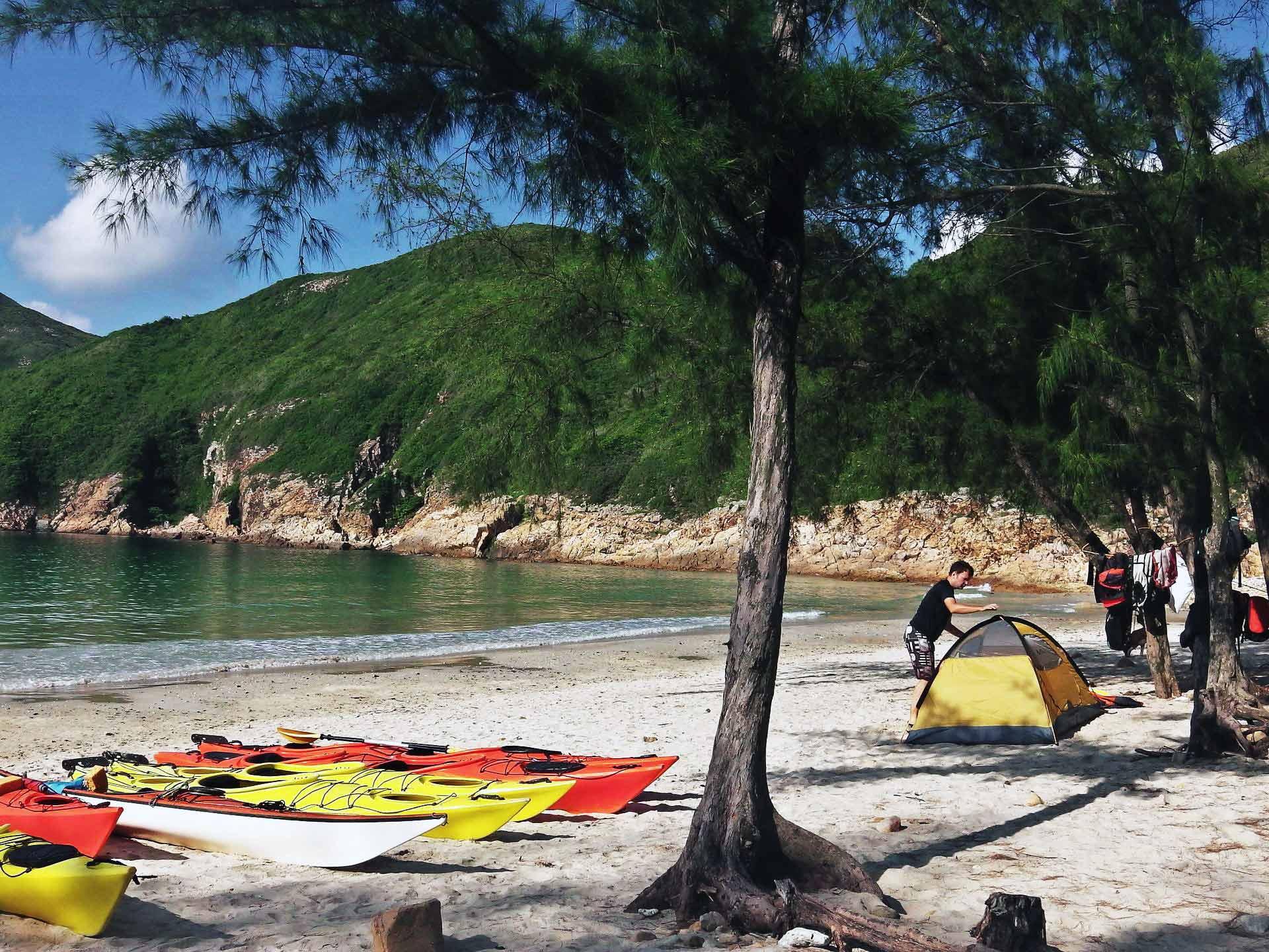UNESCO Gloabal Geopark camping trip Hong Kong