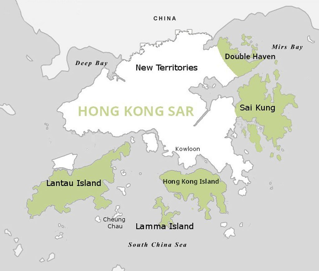 hong kong Lamma & Lantau map