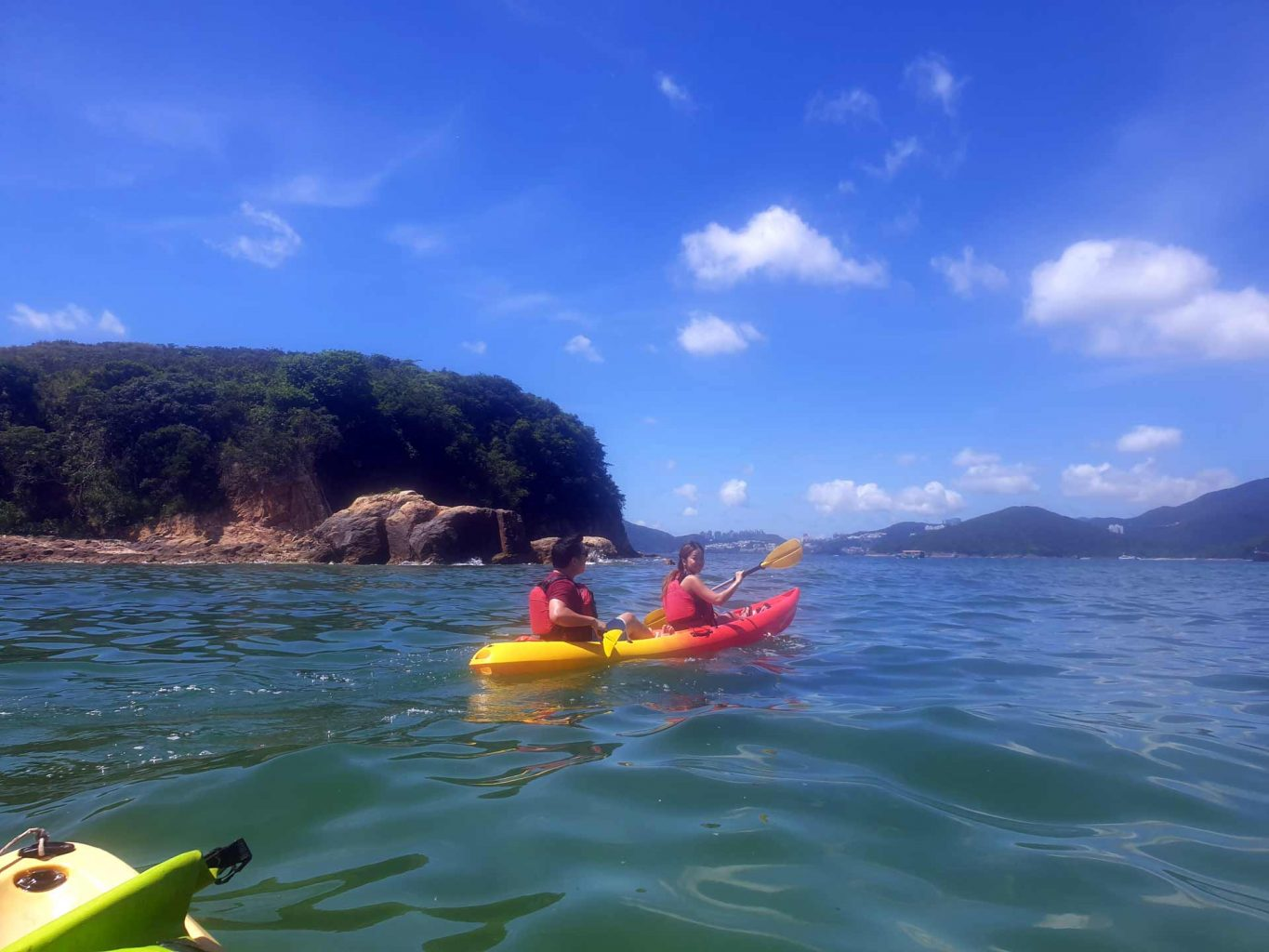 paddling to Sharp Island UNESCO Global Geopark