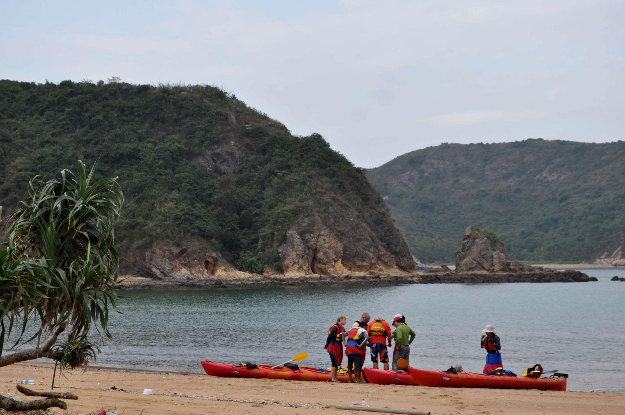 sea kayak camping Hong Kong double haven