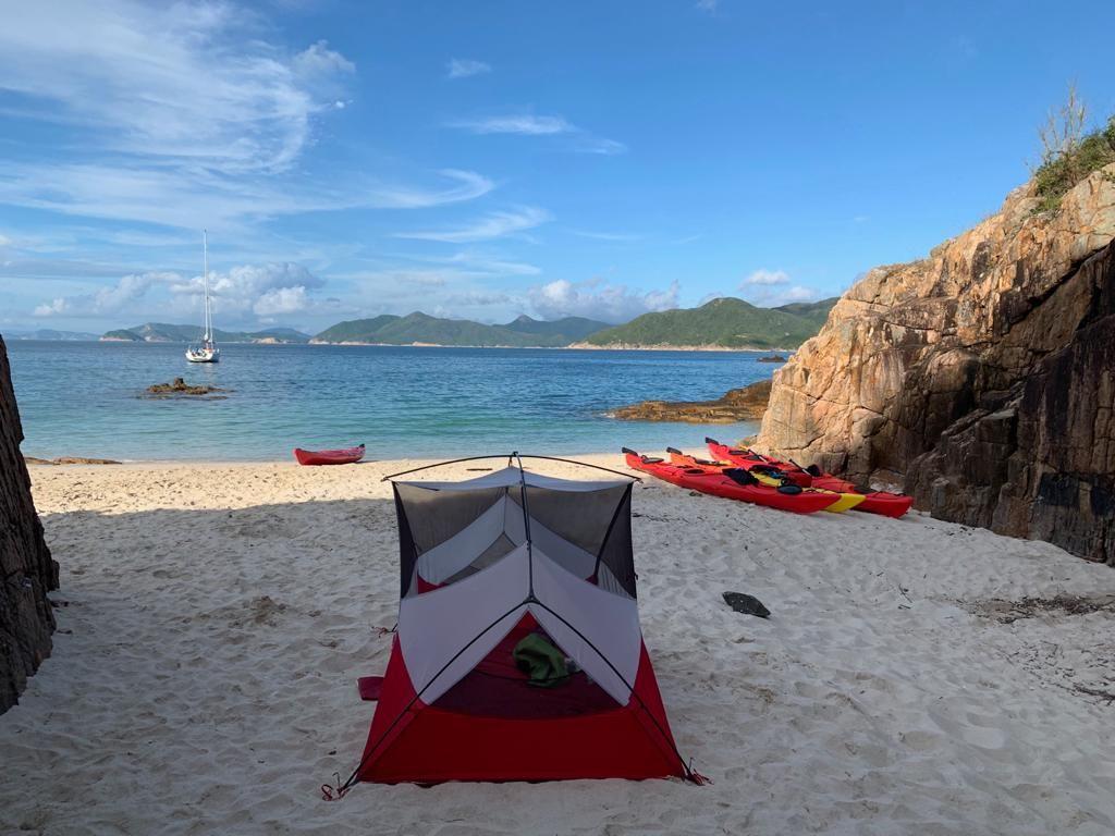 2 day sea kayak camping trip Hong Kong