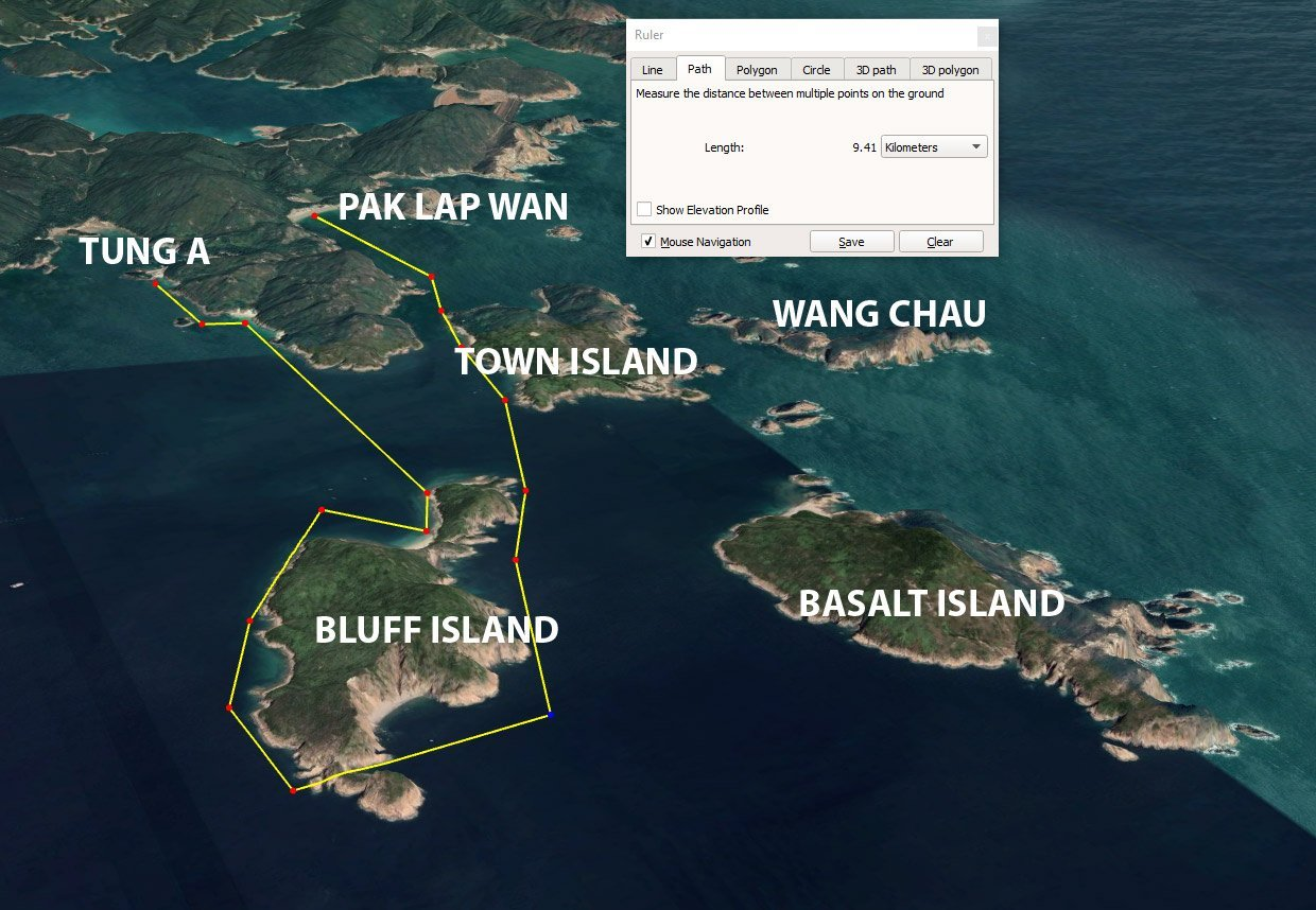Tung A to Bluff Island Route