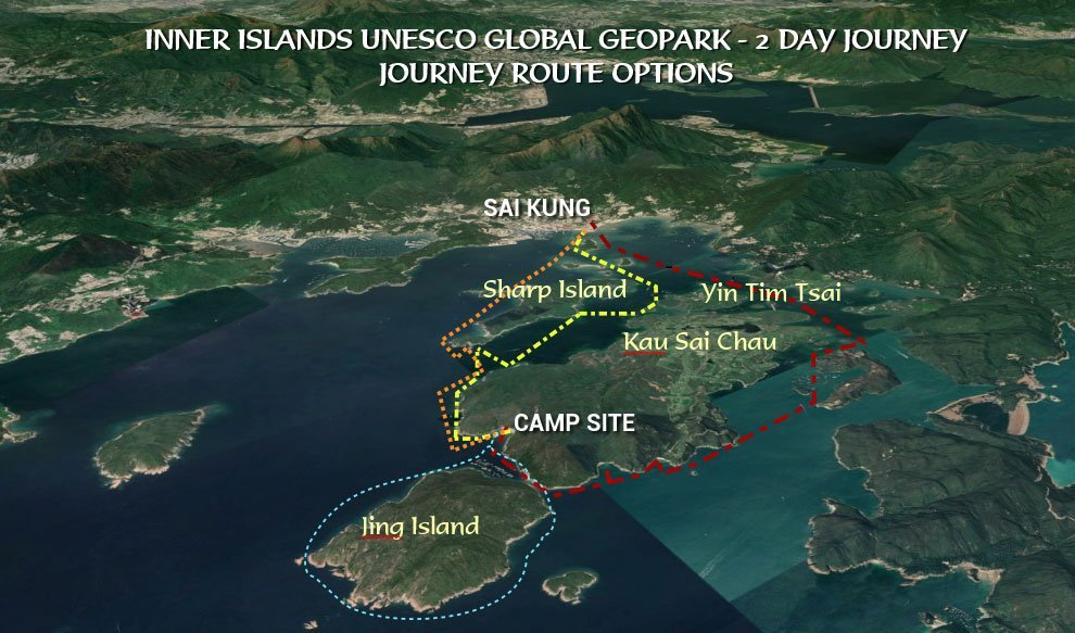 easy 2 day sea kayak camping trip