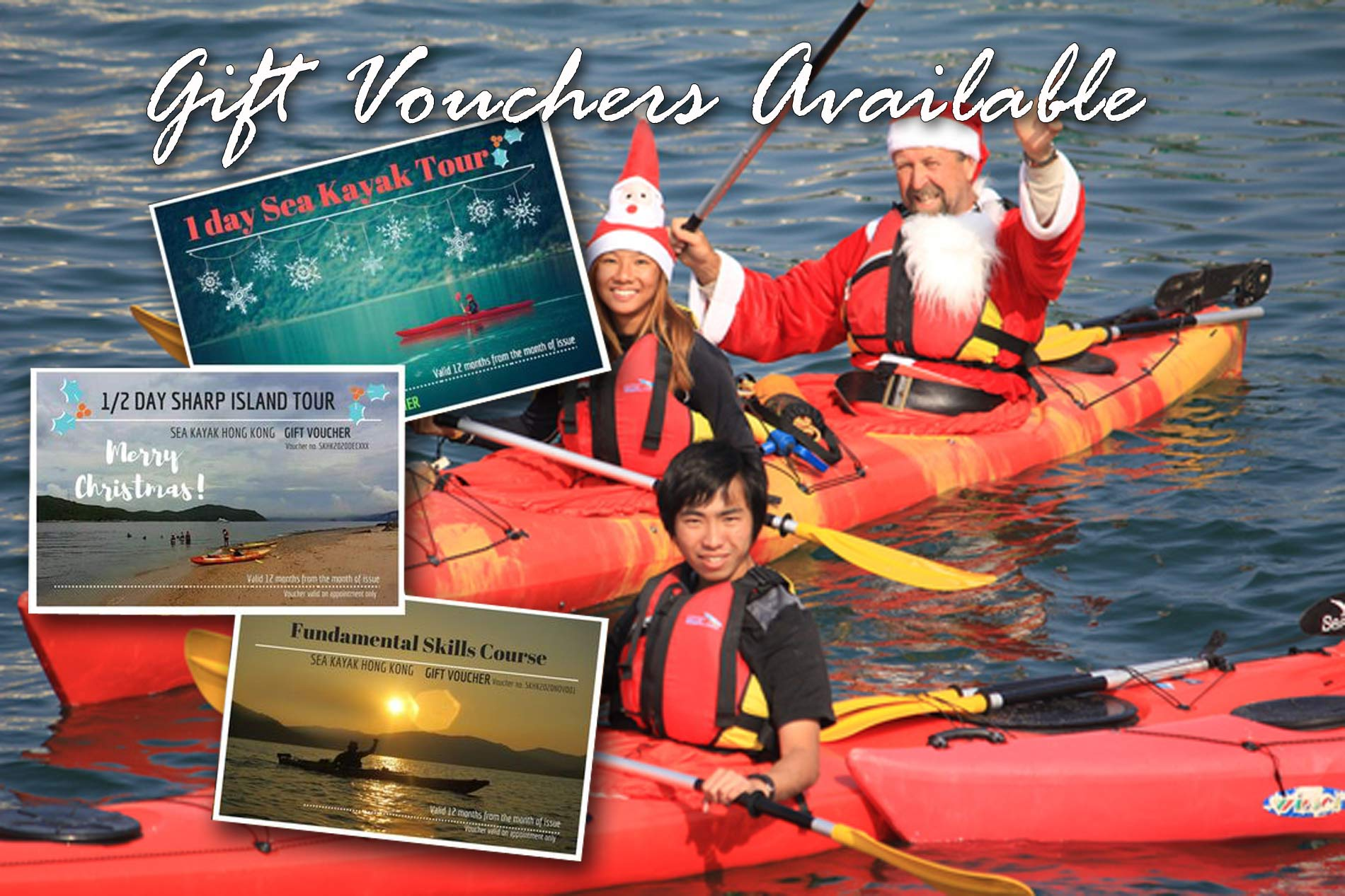sea kayaking gift vouchers