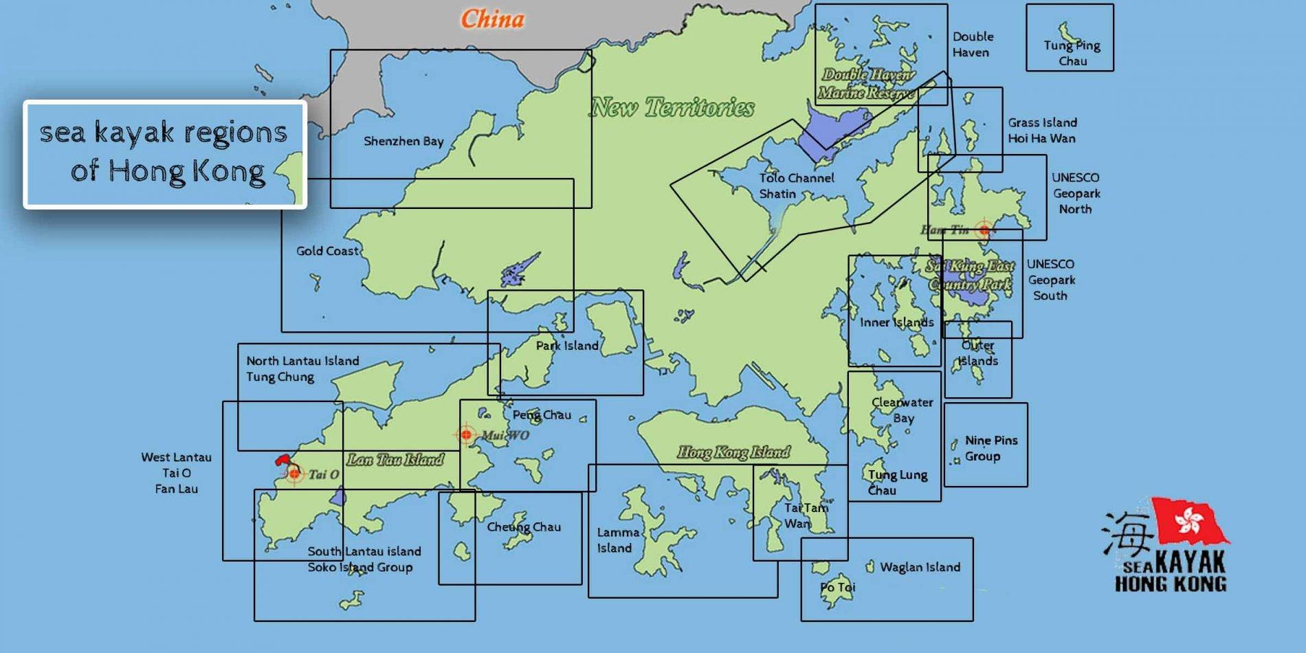 sea kayak regions of Hong Kong