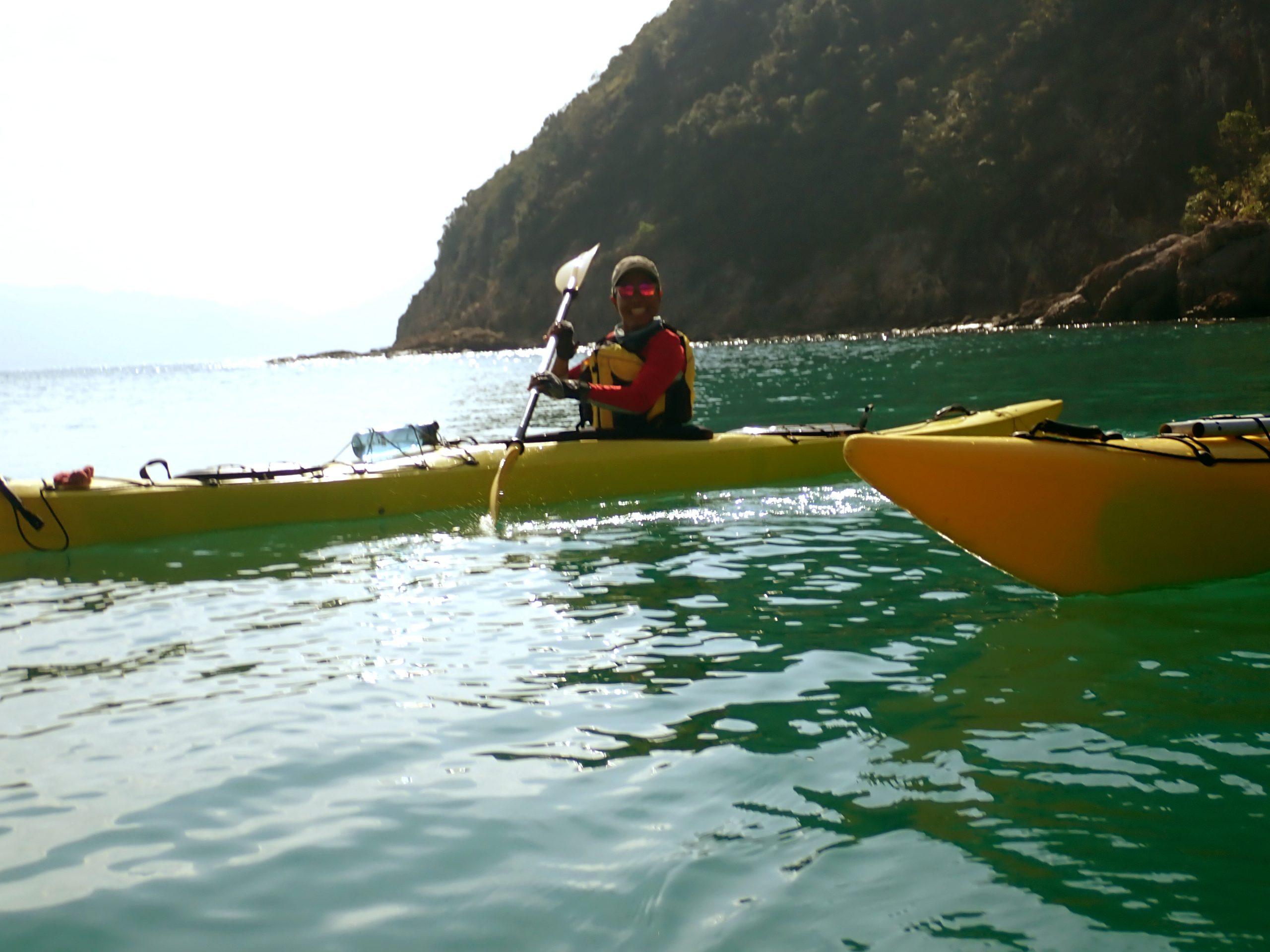 ocean tourer sea kayak yellow