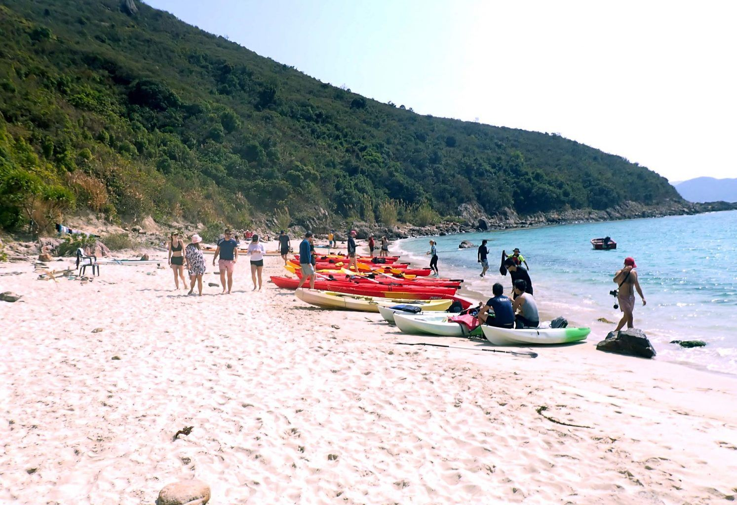 another beach to sea kayak to in Hong Kong