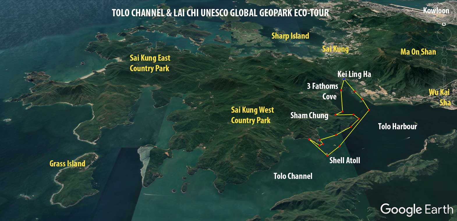 tolo channel sea kayak route