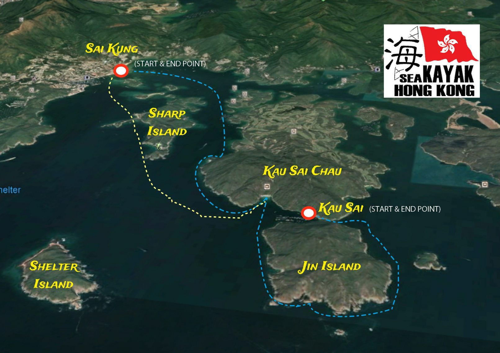 Jin Island Route Map