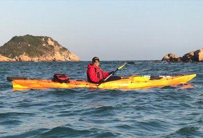 orange yellow blend sea kayak